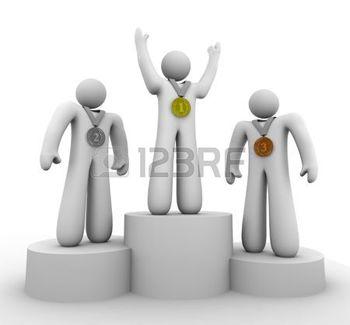 Medailles podium