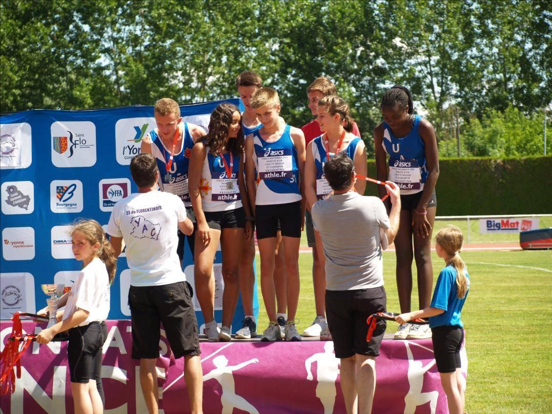 Podium championnats france minimes 2016